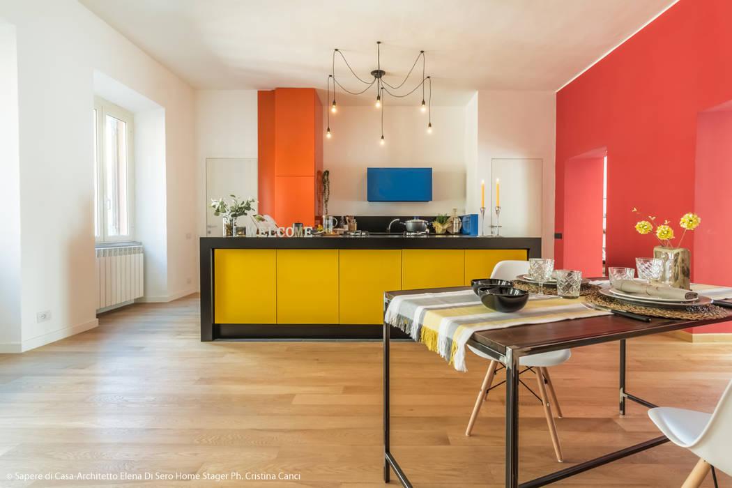Illuminazione in cucina: cucina in stile di sapere di casa