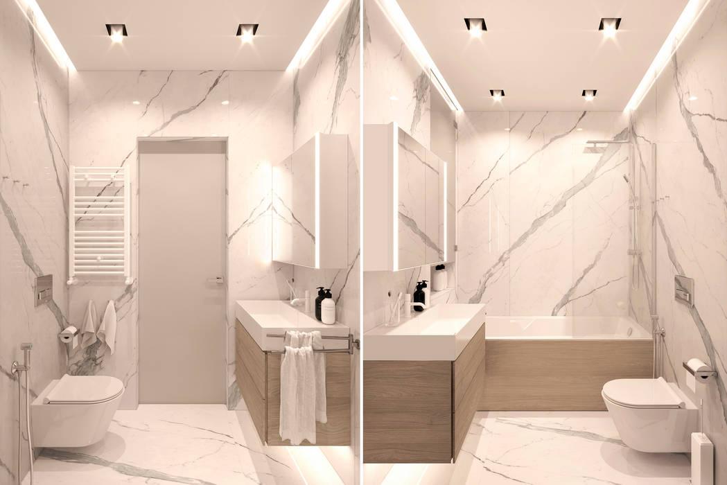 Ванная хозяйская: Ванные комнаты в . Автор – ECOForma