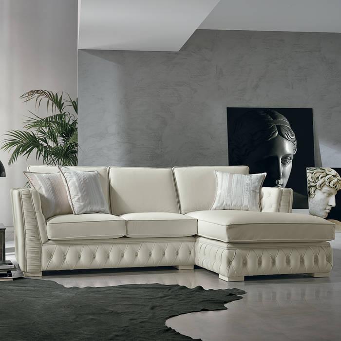 Canapé Dangle Italien En Cuir Blanc De Style Classique Teseo