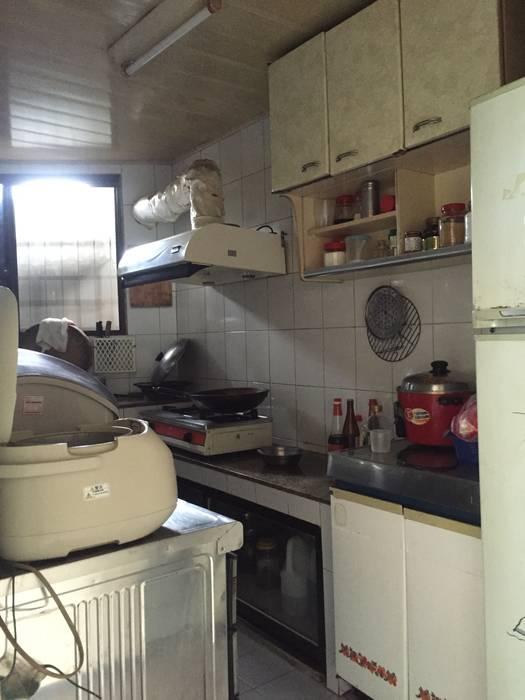 4F廚房原貌: 不拘一格  by 隹設計 ZHUI Design Studio, 隨意取材風