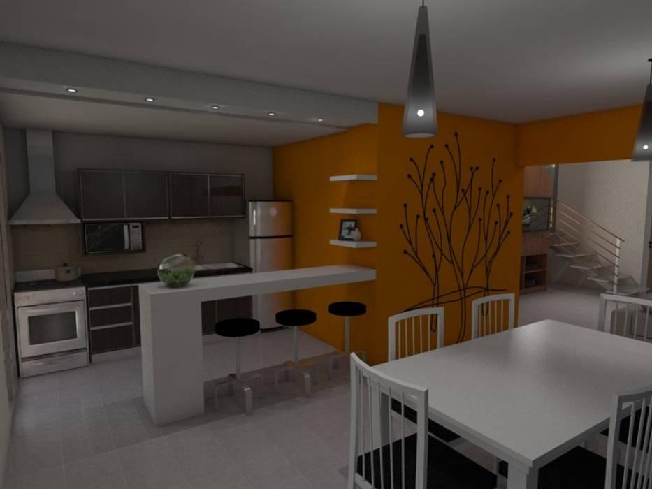 Comedor - Cocina Comedores de estilo ecléctico de Gastón Blanco Arquitecto Ecléctico