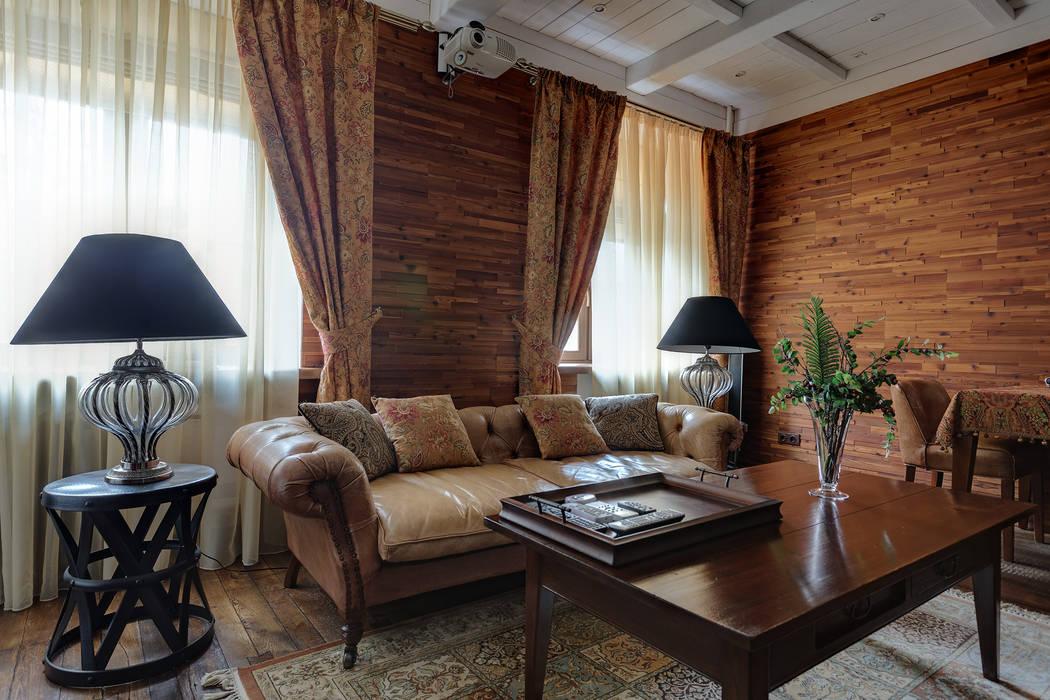 Гостиная в московской квартире в стиле гранж.: Гостиная в . Автор – Станислав Старых,