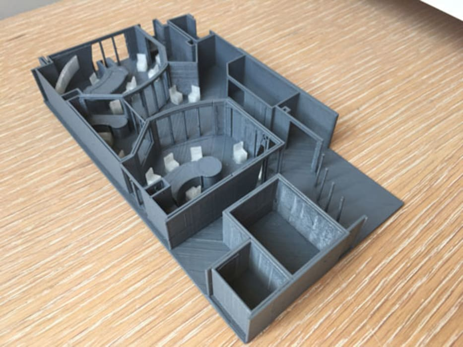 3d print of a commecial space by A4AC Architects