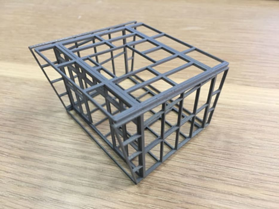 3d print of a structure by A4AC Architects