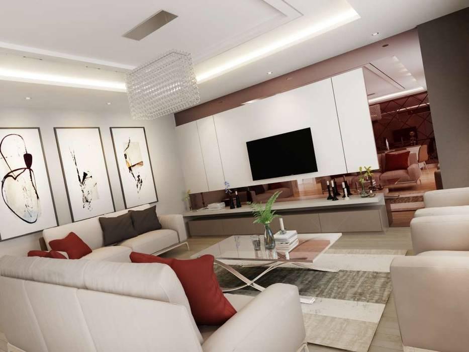 Villa Mira VERO CONCEPT MİMARLIK Modern Oturma Odası