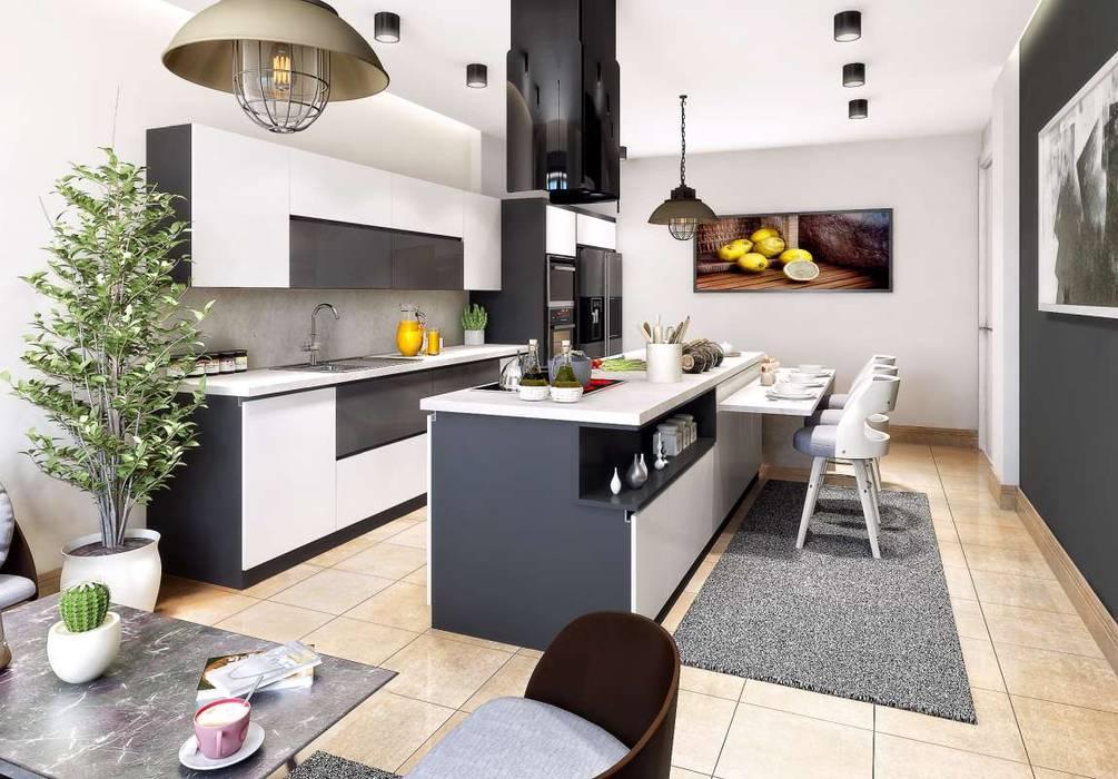 Villa Mira Modern Mutfak VERO CONCEPT MİMARLIK Modern