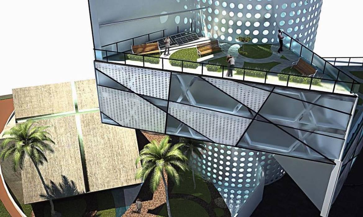 Terraza Galerías Y Espacios Comerciales De Estilo Moderno De