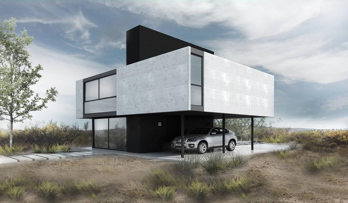 Proa Arquitectura Minimalist bedroom Metal White