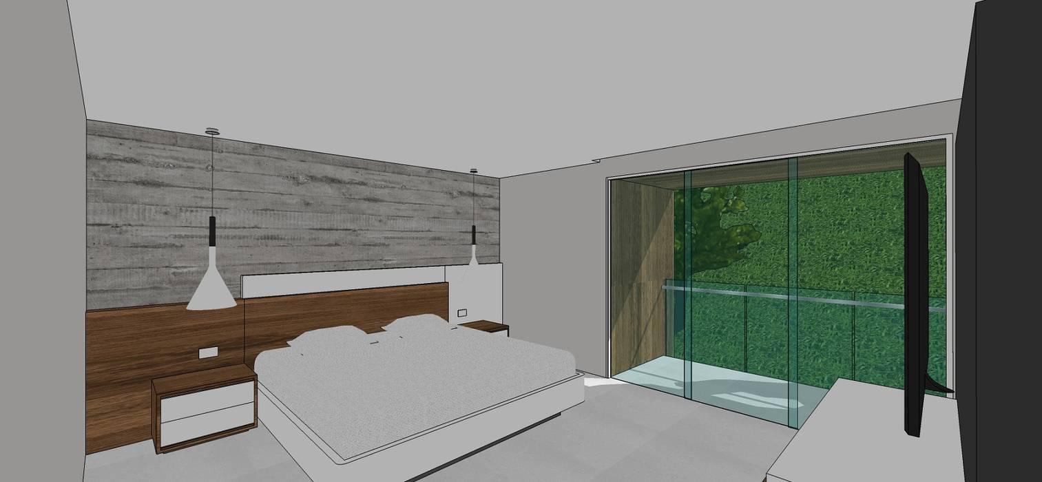Apto. N°5. Habitación principal: Cuartos de estilo  por MARATEA Estudio, Minimalista
