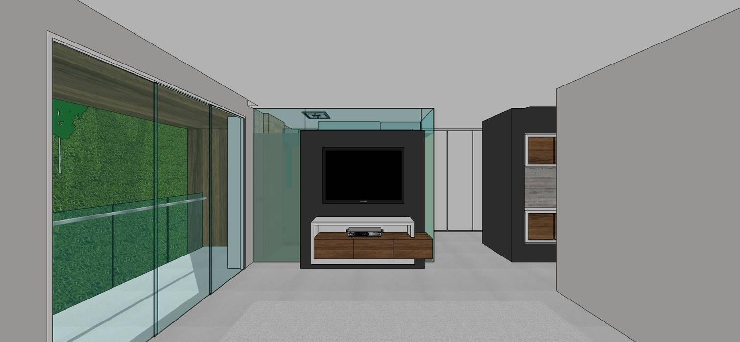Apto. N°5. Habitación principal. : Cuartos de estilo  por MARATEA Estudio, Minimalista