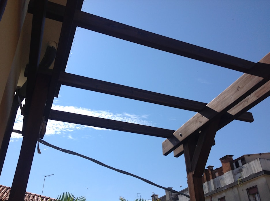 Listelli pergola in legno di pino impregnato in autoclave: balcone ...