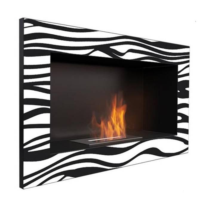 Chimenea Bioetanol Kratki Zebra de El Club del Fuego Moderno Hierro/Acero