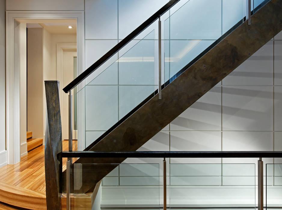 Custom Staircase Modern Corridor, Hallway and Staircase by Douglas Design Studio Modern