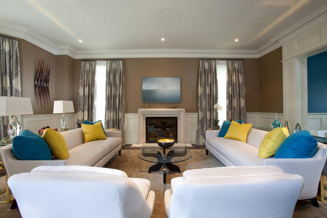 Living Room 现代客厅設計點子、靈感 & 圖片 根據 Douglas Design Studio 現代風