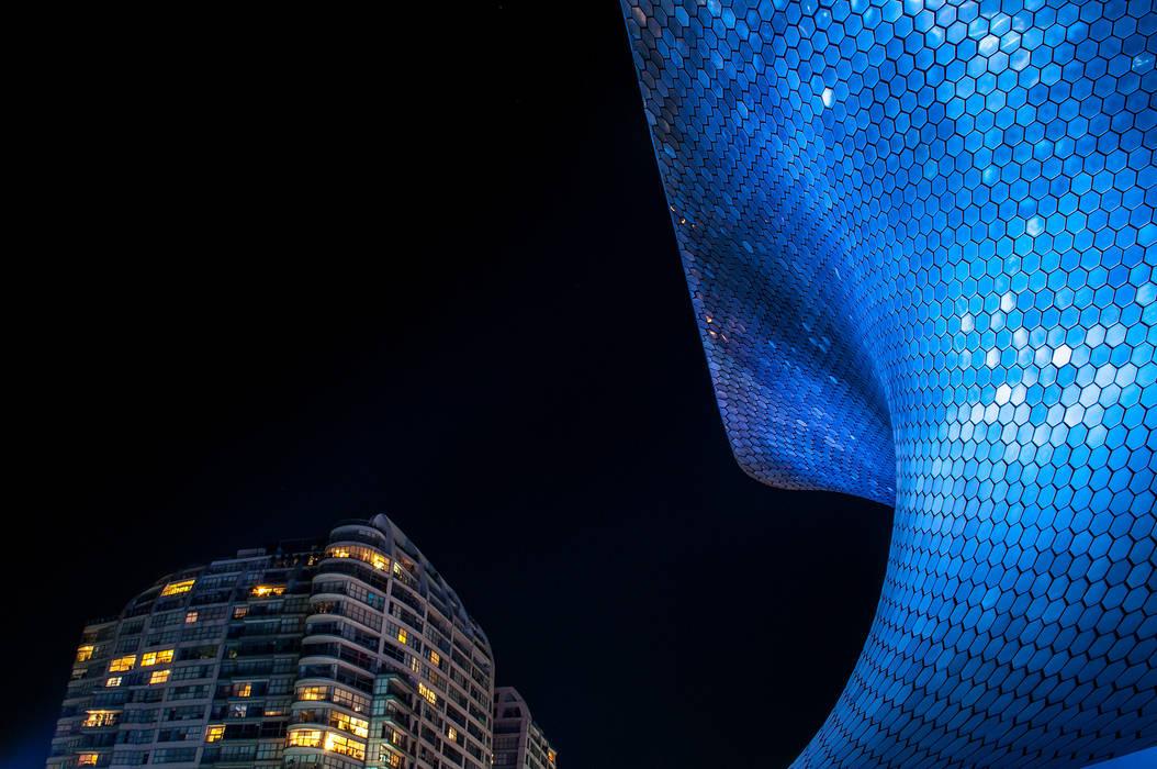 Museo Soumaya fotografia arquitectonica Ciudad de Mexico Museos de estilo moderno de Mambo agencia creativa Moderno Metal