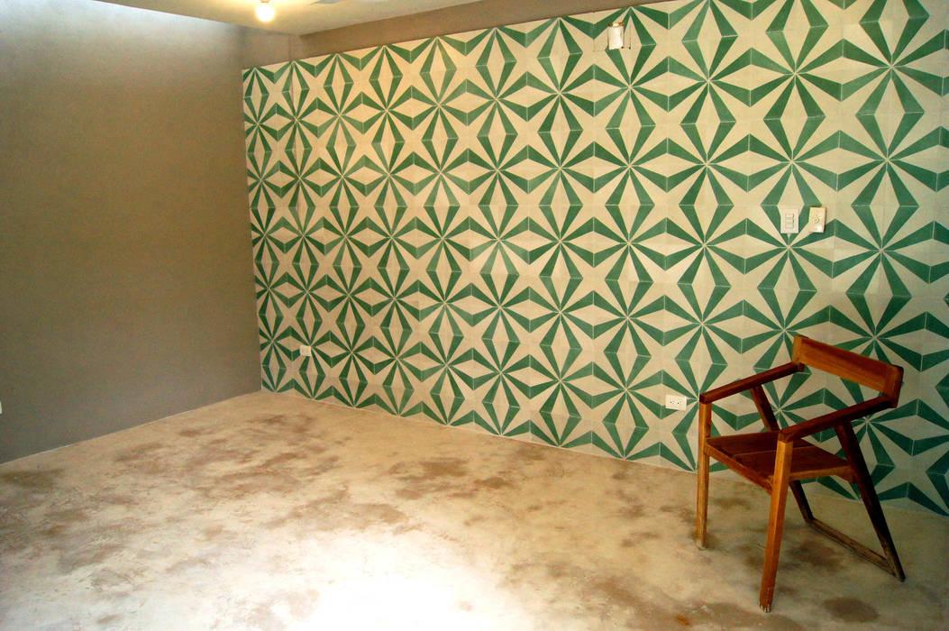 Recámara principal Paredes y suelos de estilo ecléctico de Quinto Distrito Arquitectura Ecléctico Azulejos