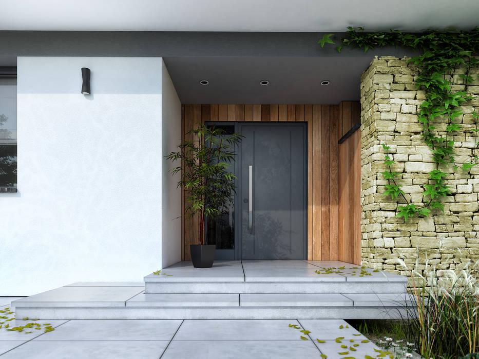 Puertas y ventanas de estilo moderno de Biuro Projektów MTM Styl - domywstylu.pl Moderno
