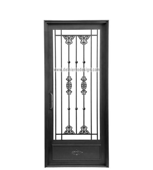 Puerta de una hoja : Ventanas de estilo  por Del Hierro Design