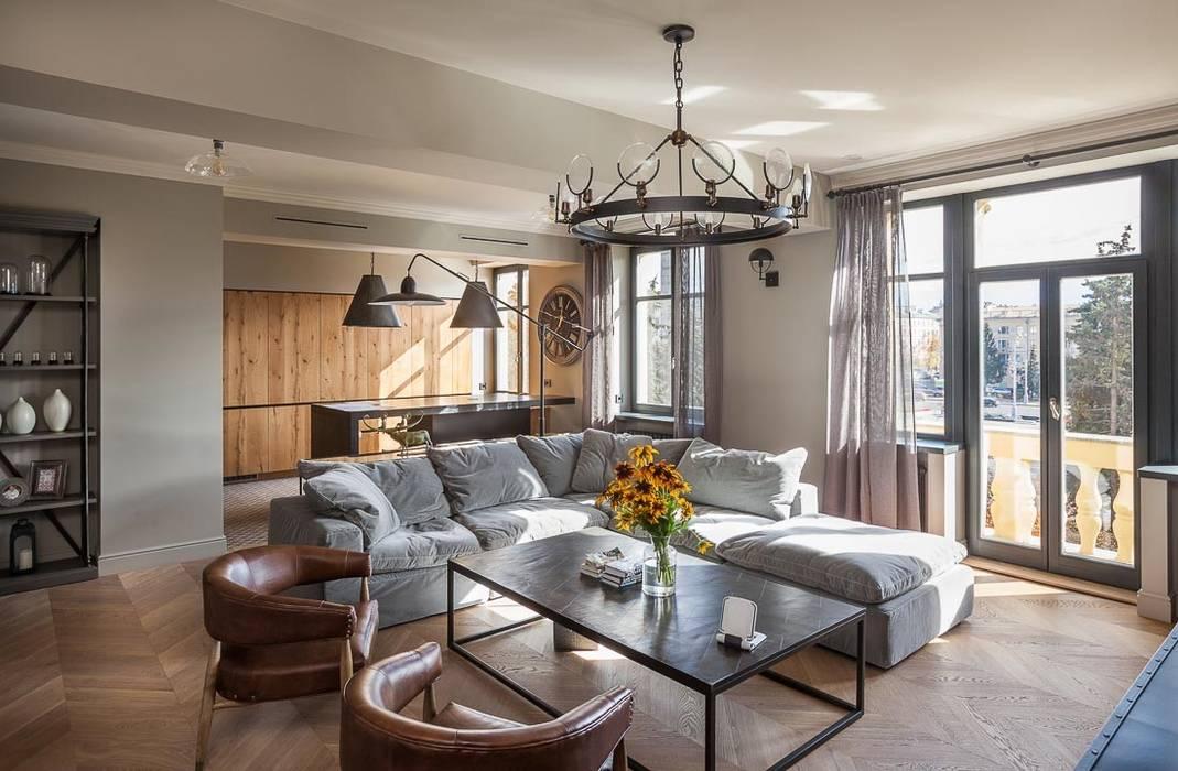 Living Room Ruang Keluarga Gaya Industrial Oleh Hampstead Design Hub Industrial