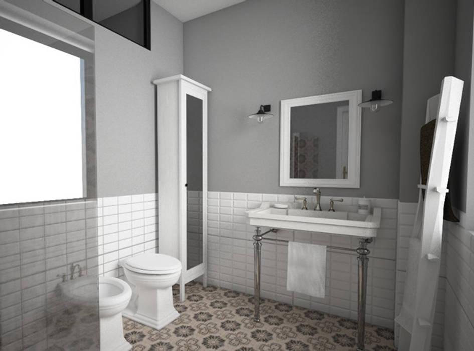 Progetto di ristrutturazione e interior design bagno in stile di