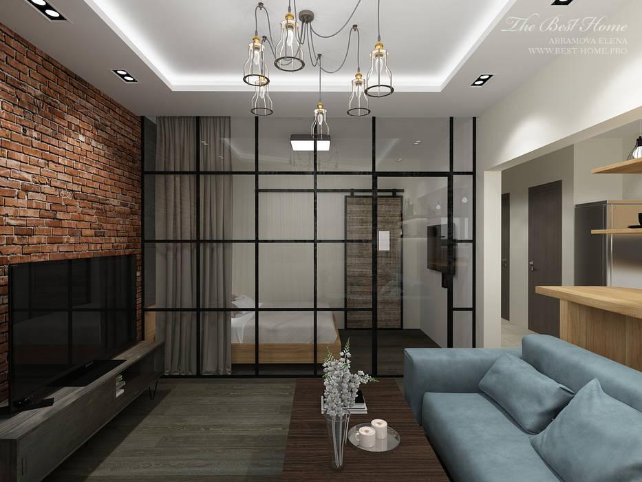 Студия в стиле лофт в Москве Гостиная в стиле лофт от Best Home Лофт
