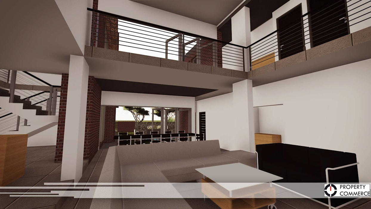 Modern houses by Property Commerce Architects Modern