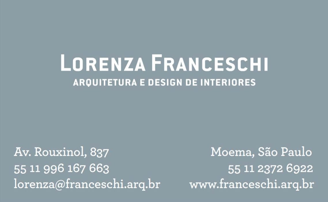 by Lorenza Franceschi Arquitetura e Design de Interiores