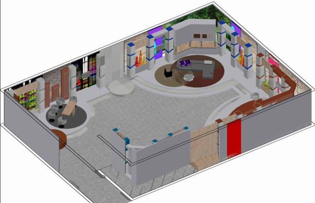 Escenografías ubicadas en  360º: Salas de entretenimiento de estilo  por ERGOARQUITECTURAS FL C.A., Moderno Derivados de madera Transparente
