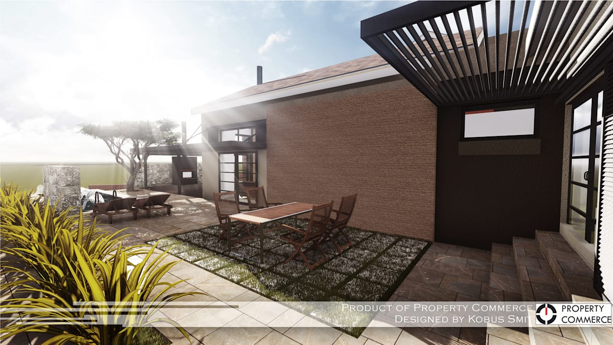 House Snyman Modern houses by Property Commerce Architects Modern