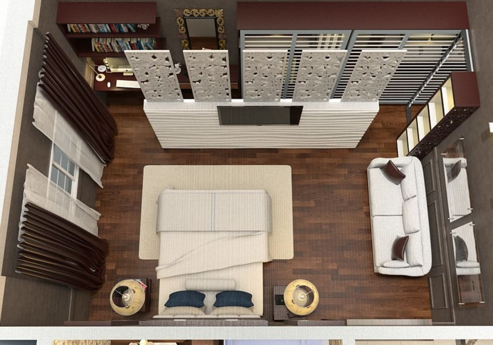 bedroom:  غرفة نوم تنفيذ Taghred elmasry