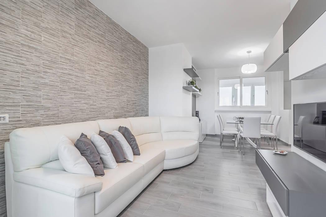 Ristrutturazione Appartamento Di 82 Mq A Milano, San Siro: Soggiorno In Stile Di Facile