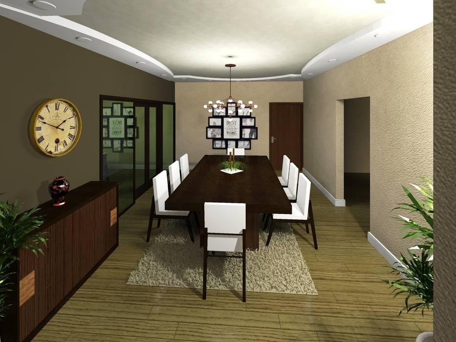 Comedor Comedores de estilo minimalista de HC Arquitecto Minimalista
