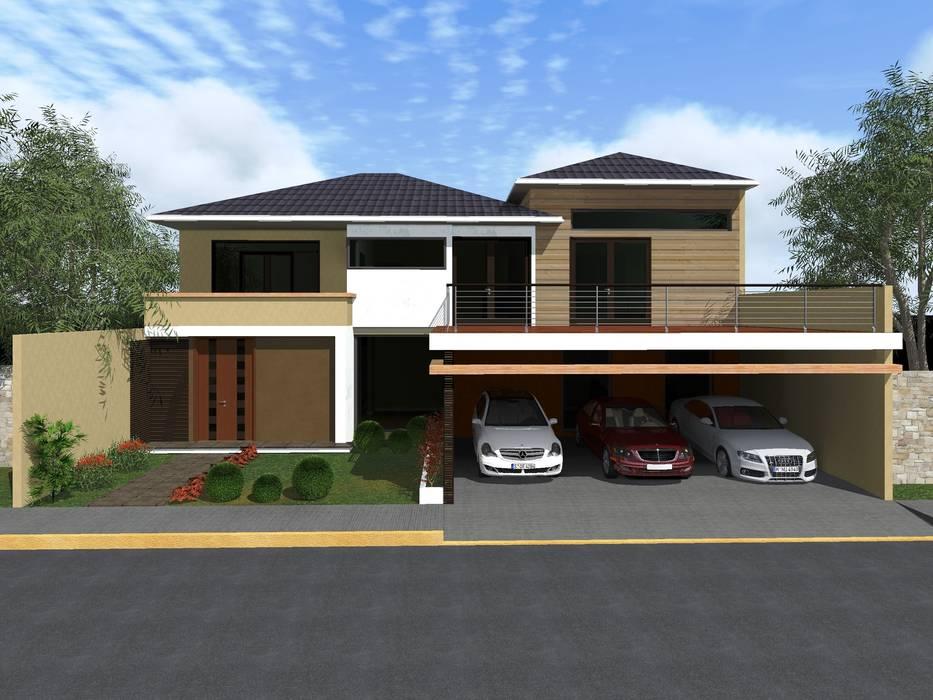 Casas de estilo  por HC Arquitecto,