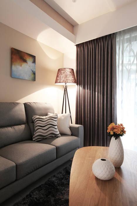 Luscious 築一國際室內裝修有限公司 现代客厅設計點子、靈感 & 圖片