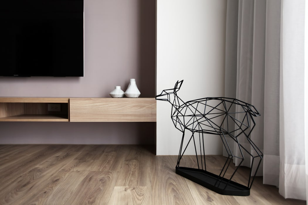 Queue 现代客厅設計點子、靈感 & 圖片 根據 築一國際室內裝修有限公司 現代風