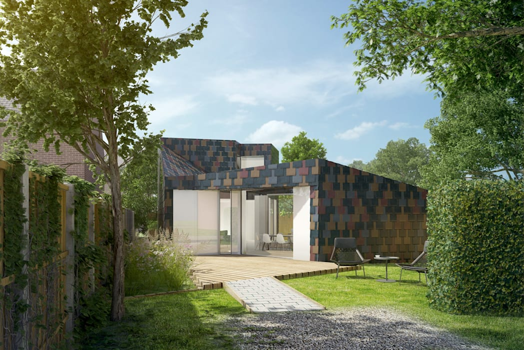 A 2 bedroomed retirement property clad in natural coloured slate ArchitectureLIVE