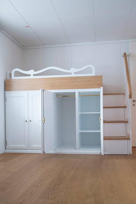 Recuperare spazio con letti a ponte attrezzati.: camera da letto in ...