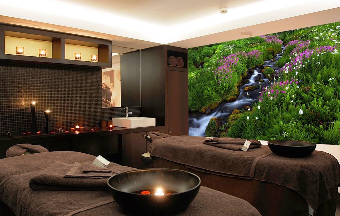Decoraci n pared de sala masajes de spa con mural - Decoracion zen spa ...