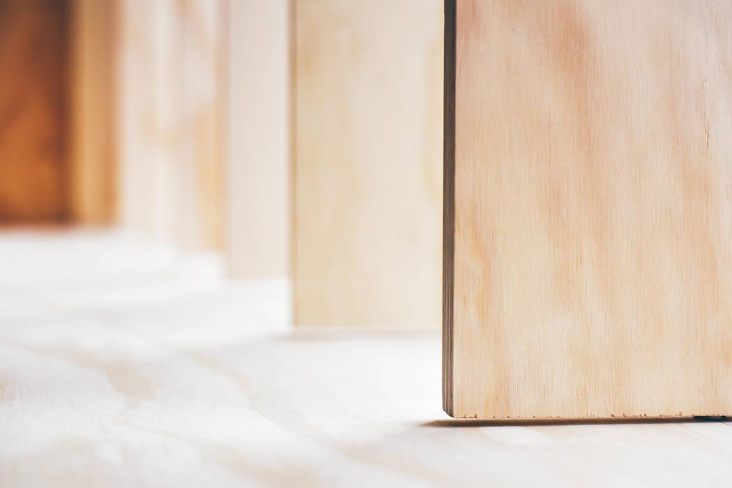 สแกนดิเนเวียน  โดย Woodside Parker Kirk Architects, สแกนดิเนเวียน แผ่นไม้อัด Plywood