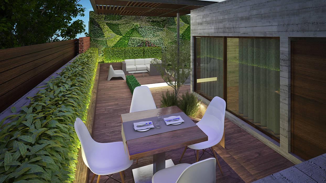 Modern Terrace by homify Modern Wood Wood effect