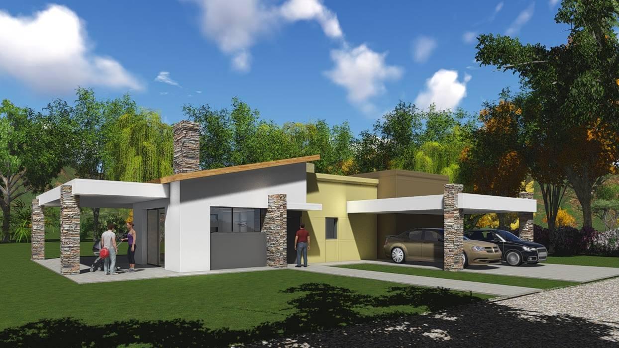 Garajes de estilo moderno de Estudio de arquitectura MSM (Mar del Plata+Balcarce+Tandil) Moderno Ladrillos