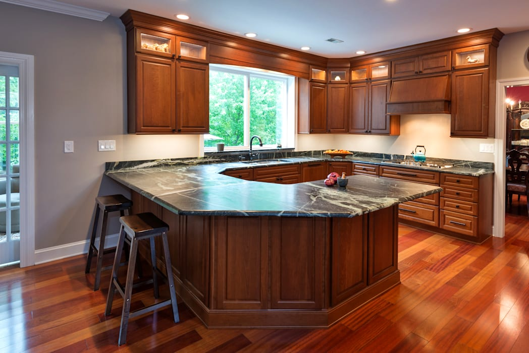 Bishop Medium Cherry Raised Panel Kitchen by Main Line Kitchen Design Classic