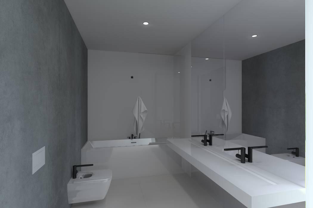 Projeto Esmeralda: Casas de banho  por Magnific Home Lda