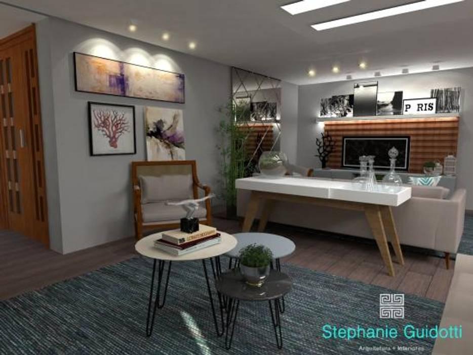 Stephanie Guidotti Arquitetura e Interiores Salones de estilo moderno