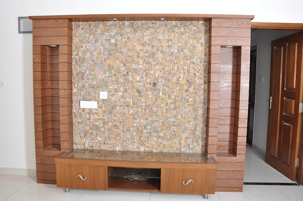 Modern Living Room Furniture:  Living room by Scale Inch Pvt. Ltd.
