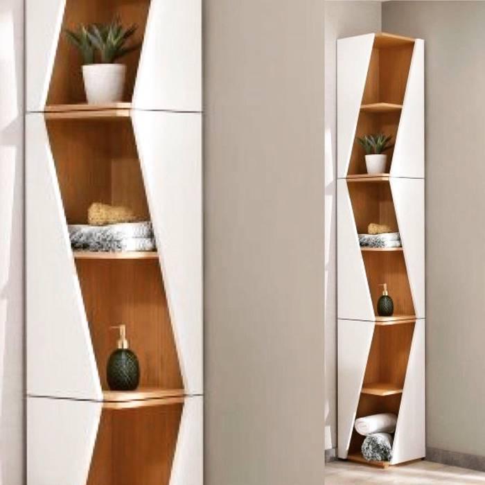 Design eckregal für badezimmer und wc: badezimmer von noook | homify