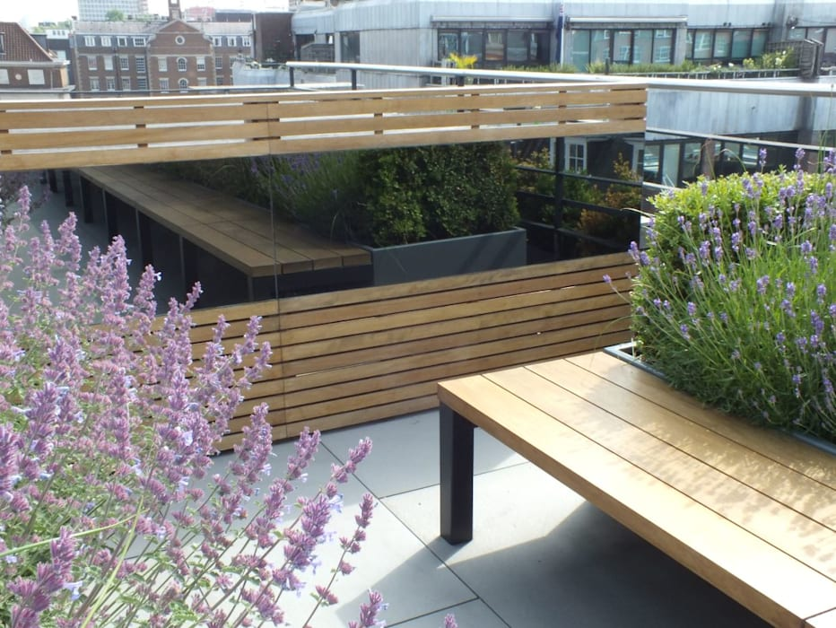 Ganton Street Roof Terrace London:  Commercial Spaces by Aralia
