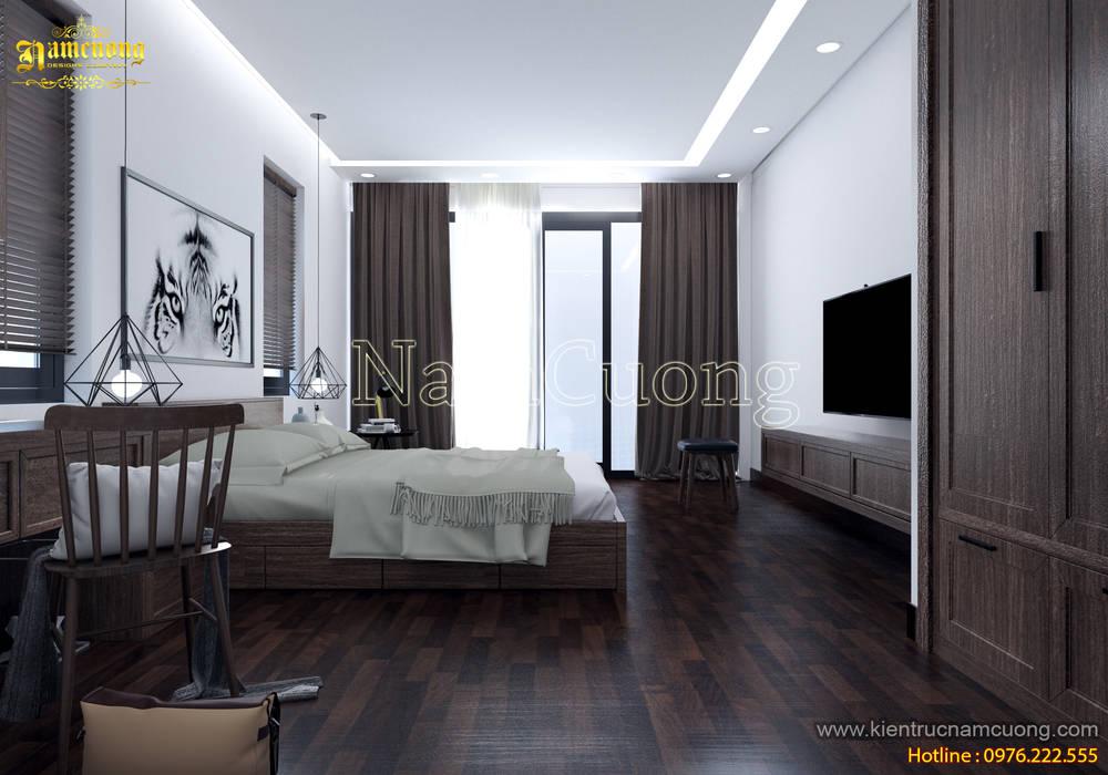 NamCuong design company Phòng ngủ phong cách hiện đại bởi Công ty Cổ phần tư vấn thiết kế xây dựng Nam Cường Hiện đại