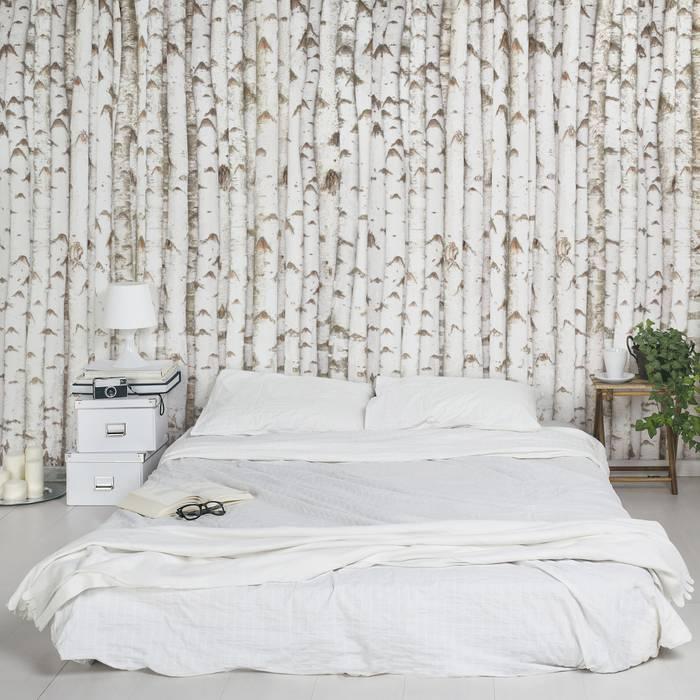 Bilderwelten Tapete Holzoptik Schlafzimmer Von Bilderwelten Homify