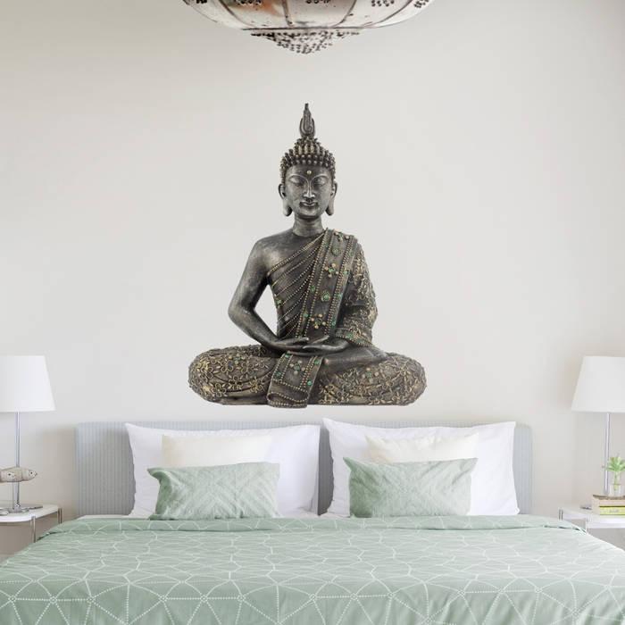 Bilderwelten wandtattoo zen buddha stein: schlafzimmer von ...